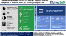 Depression and the Effect of Sertraline on Inflammatory Biomarkers in Patients with Nondialysis CKD