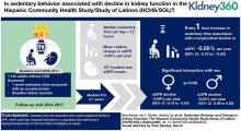 Sedentary Behavior and Change in Kidney Function: The Hispanic Community Health Study/Study of Latinos (HCHS/SOL)