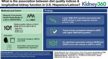 Association of Diet Quality Indices with Longitudinal Changes in Kidney Function in U.S. Hispanics/Latinos: Findings from the Hispanic Community Health Study/Study of Latinos (HCHS/SOL)